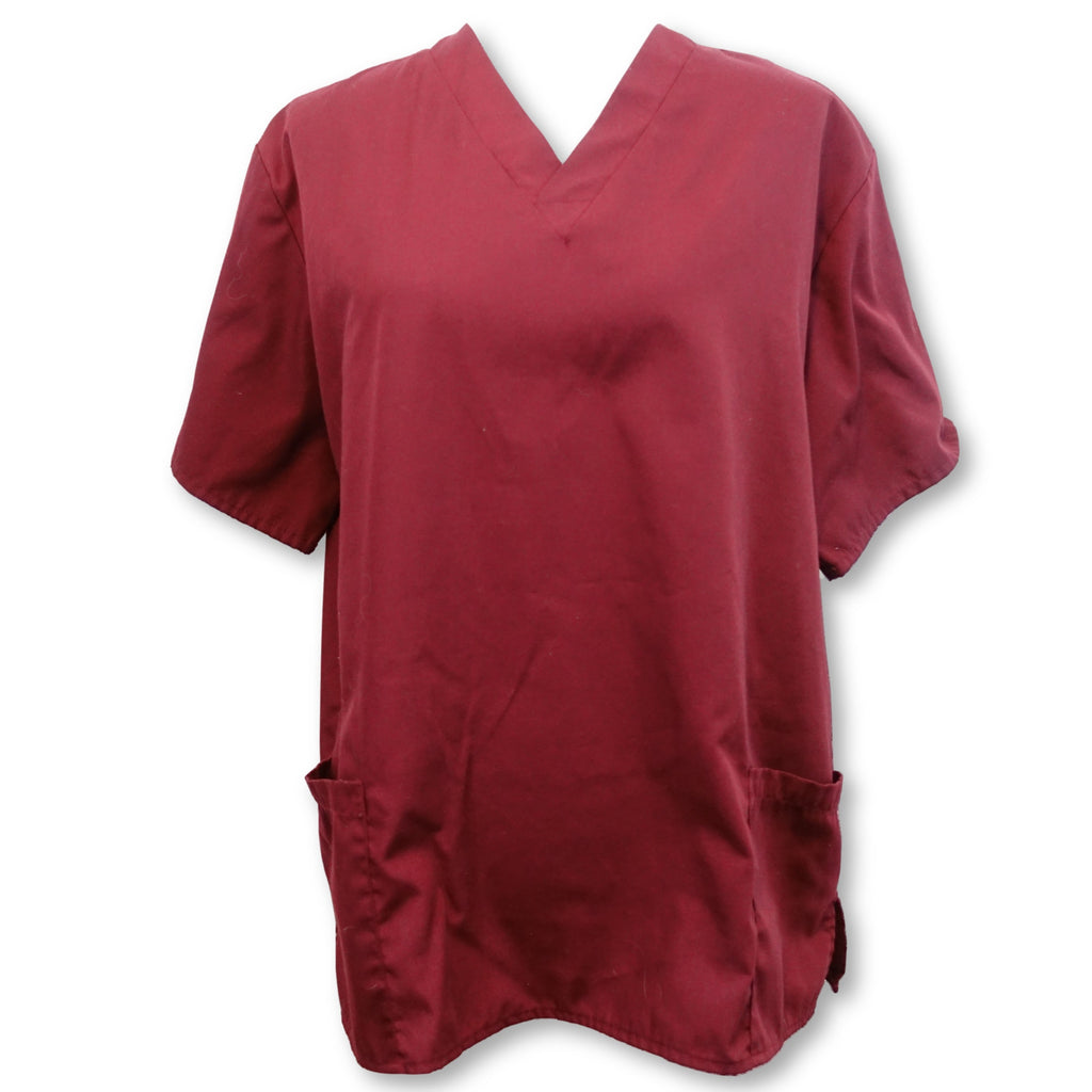 Natural Uniforms Unisex Top (101) >> Burgundy, Medium