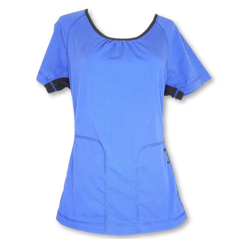 Cherokee Flexstretch Scoop Neck Top (2656) >> Spectrum Blue, X-Small
