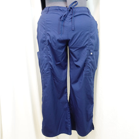 f240d473863 Cherokee Luxe Low Rise Drawstring Cargo Pants (21100) >> Navy, 2X-