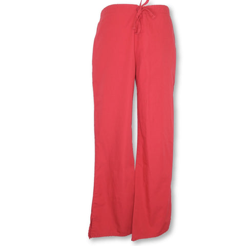 Cherokee Natural Rise Flare Leg Drawstring Pant (4101) >> Red, Small Petite