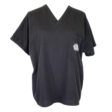 NBA San Antonio Spurs Unisex V-Neck Top (2991) >> Black, Small