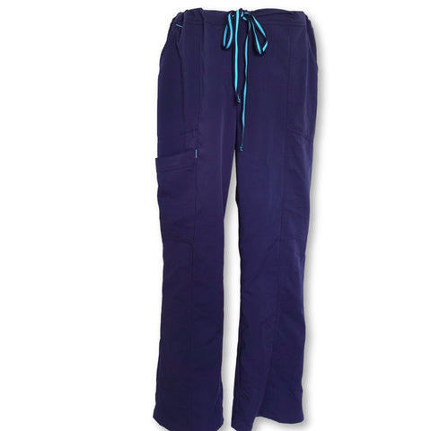 ScrubStar Premium Collection Stretch Rayon Drawstring Pant (07007) >> Indigo, Large