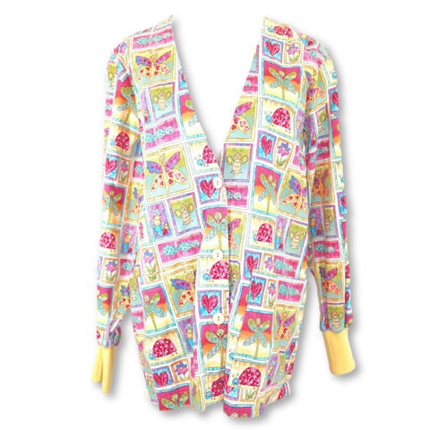 Peaches Uniforms Heart Print Jacket (6108) >> Patterned, Small