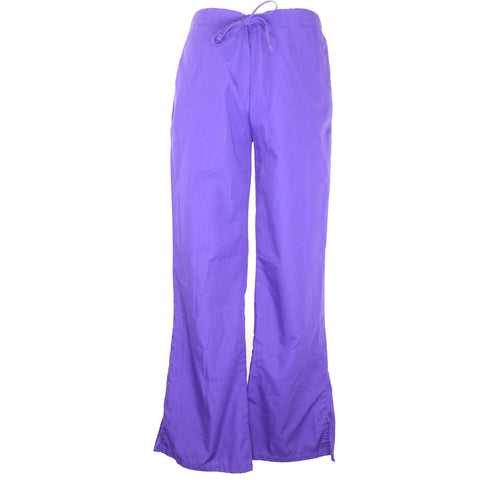 Cherokee Natural Rise Flare Leg Drawstring Pant (4101) >> Grape, XX-Small Petite