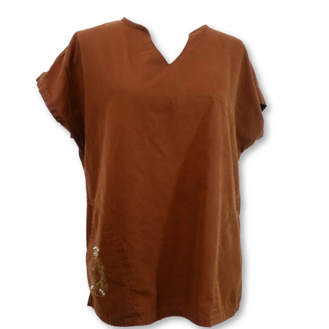 Baby Phat Y-Neck Top (26820) >> Brown, X-Large