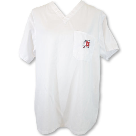 Gel Scrubs University of Utah Top (6557) >> White, Large