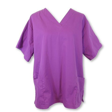 Butter-Soft V-Neck Solid Top (62) >> Berry Burst, Large