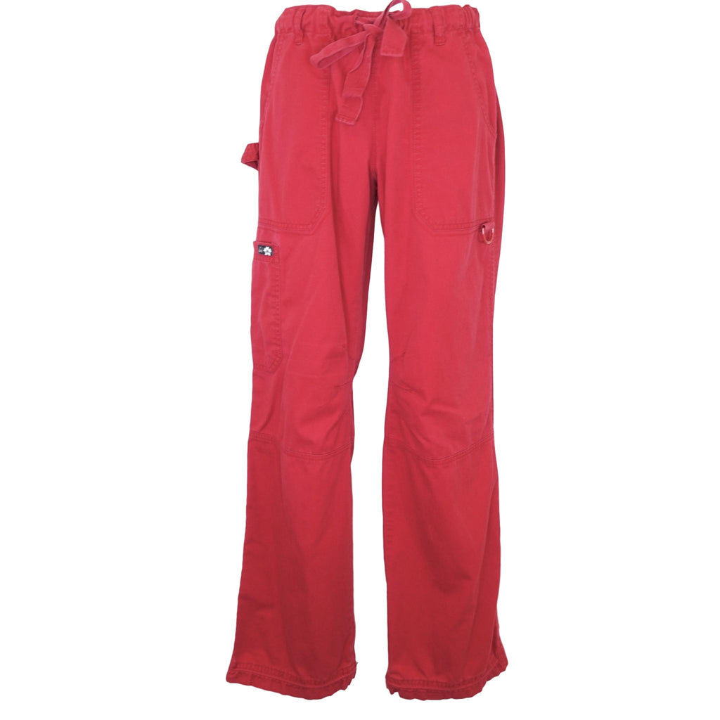 Koi Low-Rise Cargo Pant (701) >> Red, X-Small Tall