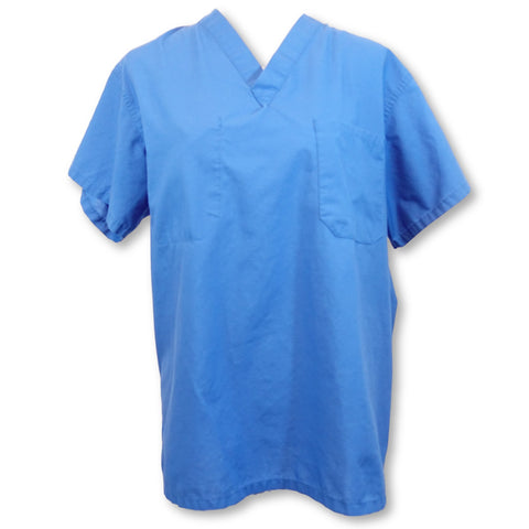 Medline Unisex V-Neck Top >> Blue, Small