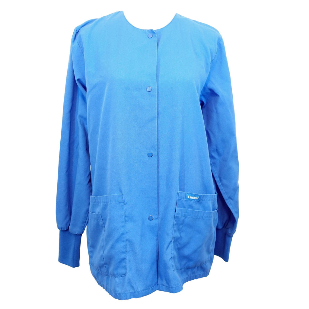 Landau Warm-Up Front Snap Jacket (7525) >> Royal Blue, Large