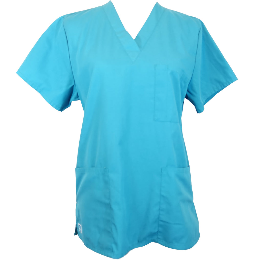 Adar Medical Universal Unisex 3-Pocket Tunic Top (601) >> Teal, X-Small