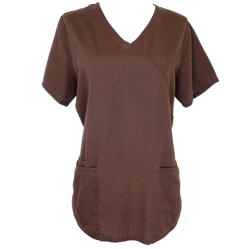 Simply Basic Mock Wrap Top (952) >> Dark Espresso, X-Small