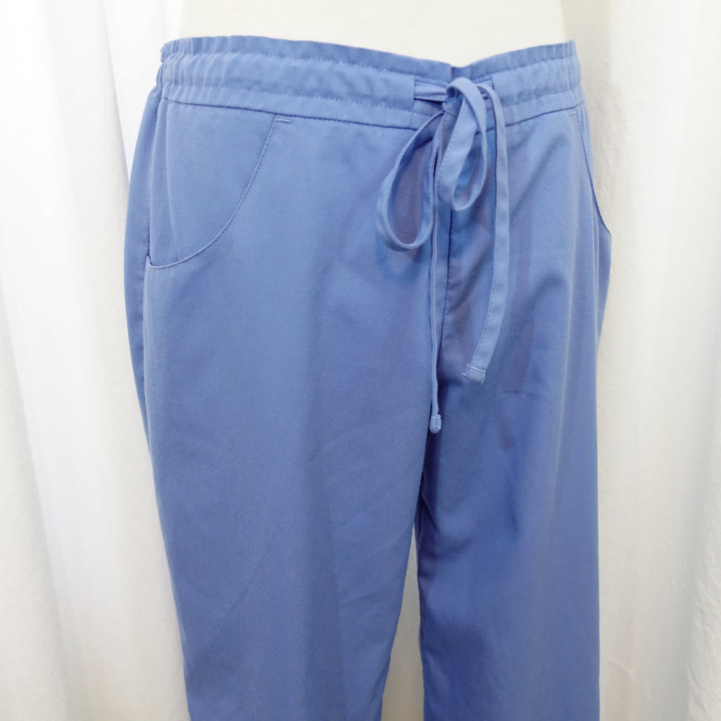 9313768c86ad0 Cherokee Drawstring Waist Pant (2079) >> Ceil Blue, Small Petite. Images /  1 / 2 / 3 ...