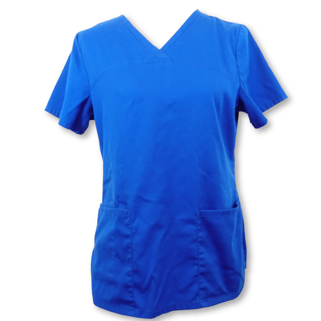 ScrubStar V-Neck Top (7808) >> Electric Blue, Small