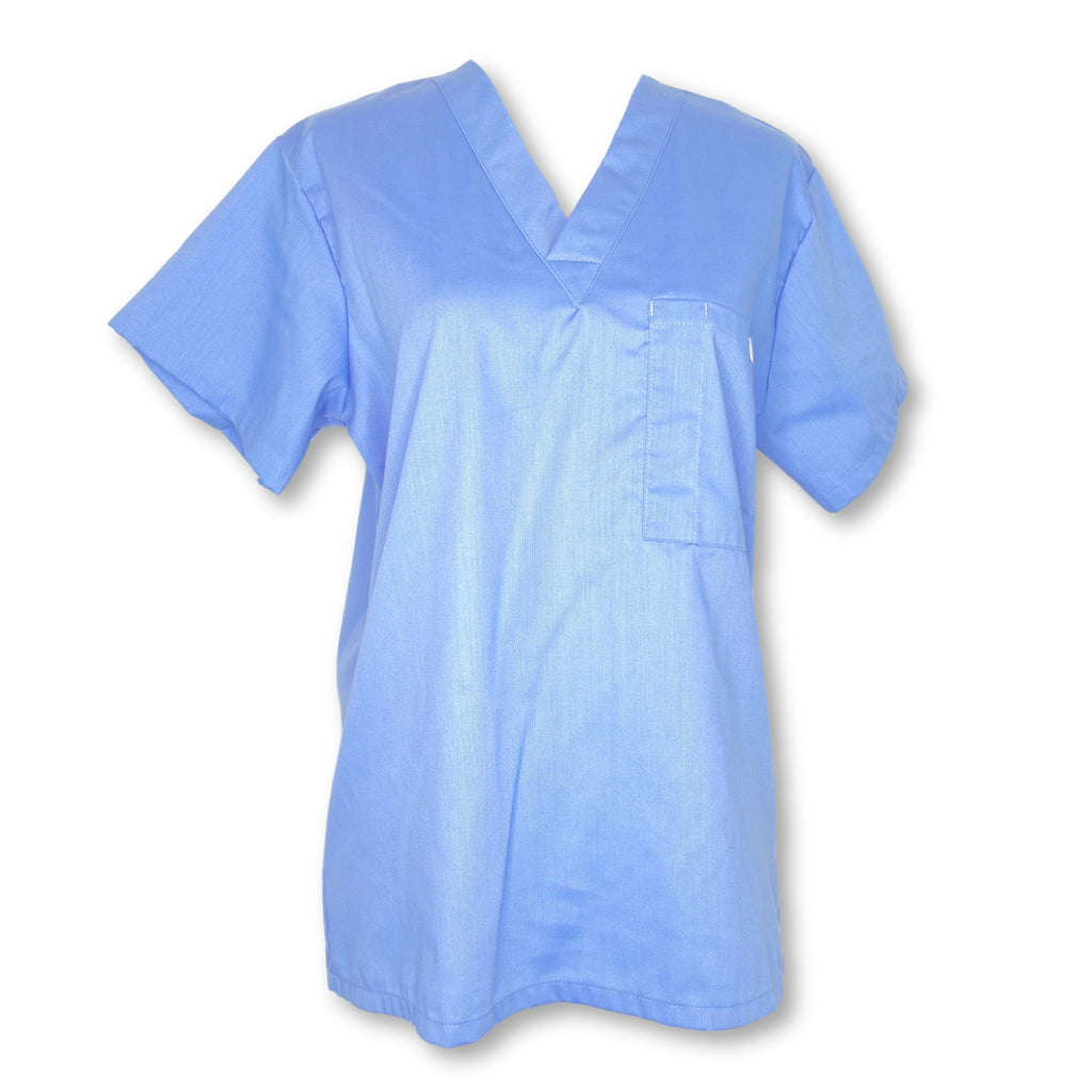 Vestex Unisex V-Neck Solid Top (223) >> Ceil Blue, 3X-Small
