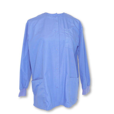 Natural Uniforms Front Snap Jacket >> Blue, X-Small