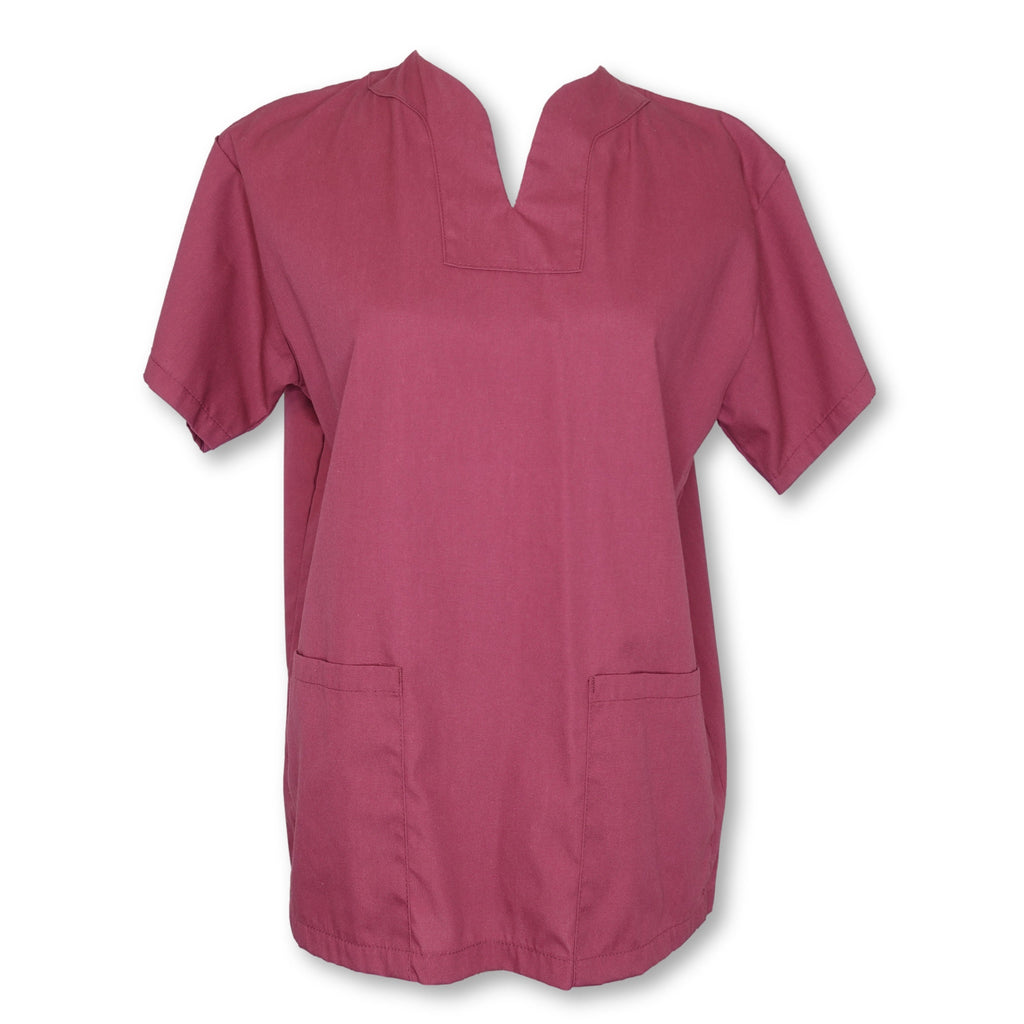 Flagstaff V-Neck Top >> Burgundy, X-Small