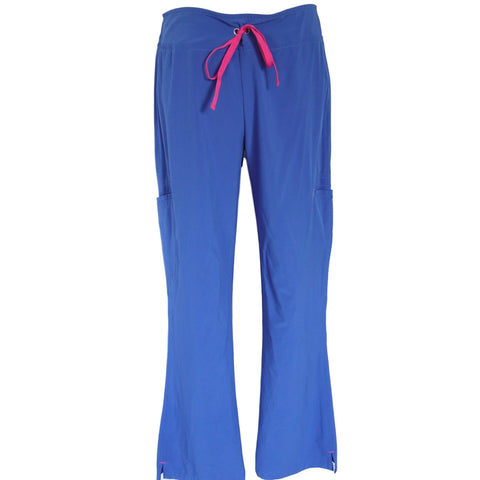 Smitten Women's AMP Cargo Solid Scrub Pant (201003) >> Royal Blue, Small