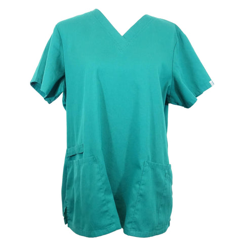 Cherokee Workwear Flex V-Neck With Certainty (44700) >> Hunter Green, Large