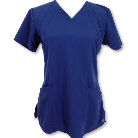Barco One Scrubs Four Pocket V-Neck Top (5105) >> Navy, Small