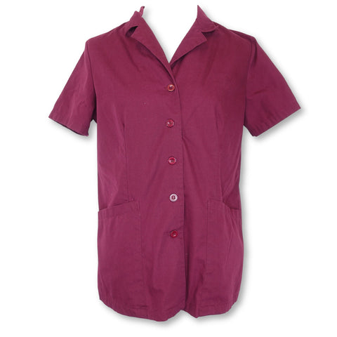 Angel Front Button Collared Top (3002) >> Wine, Small