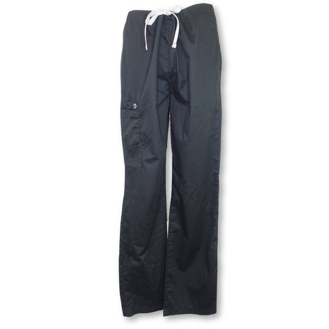 WonderWink Papa Unisex Pant (500) >> Black, X-Small
