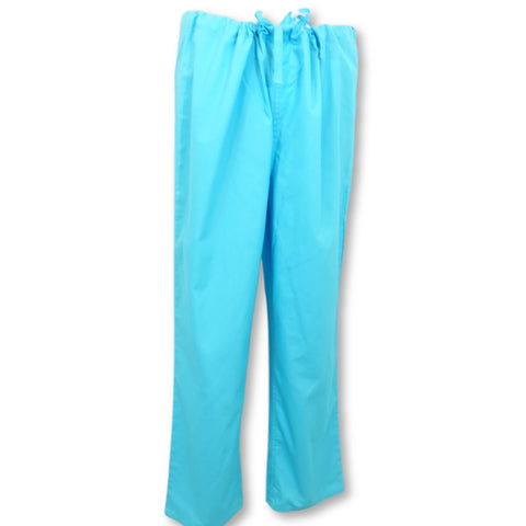 Wal-Mart Unisex Scrub Pants with Pockets >> Turquoise, Small