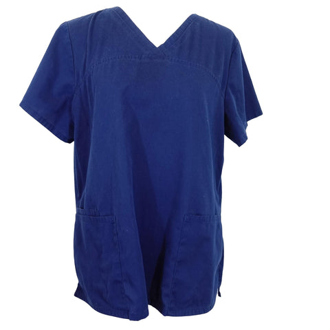 ScrubStar V-Neck Top (7808) >> Indigo, Large