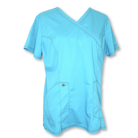 Dickies Dynamix V-Neck Scrub Top (804) >> Teal, Large
