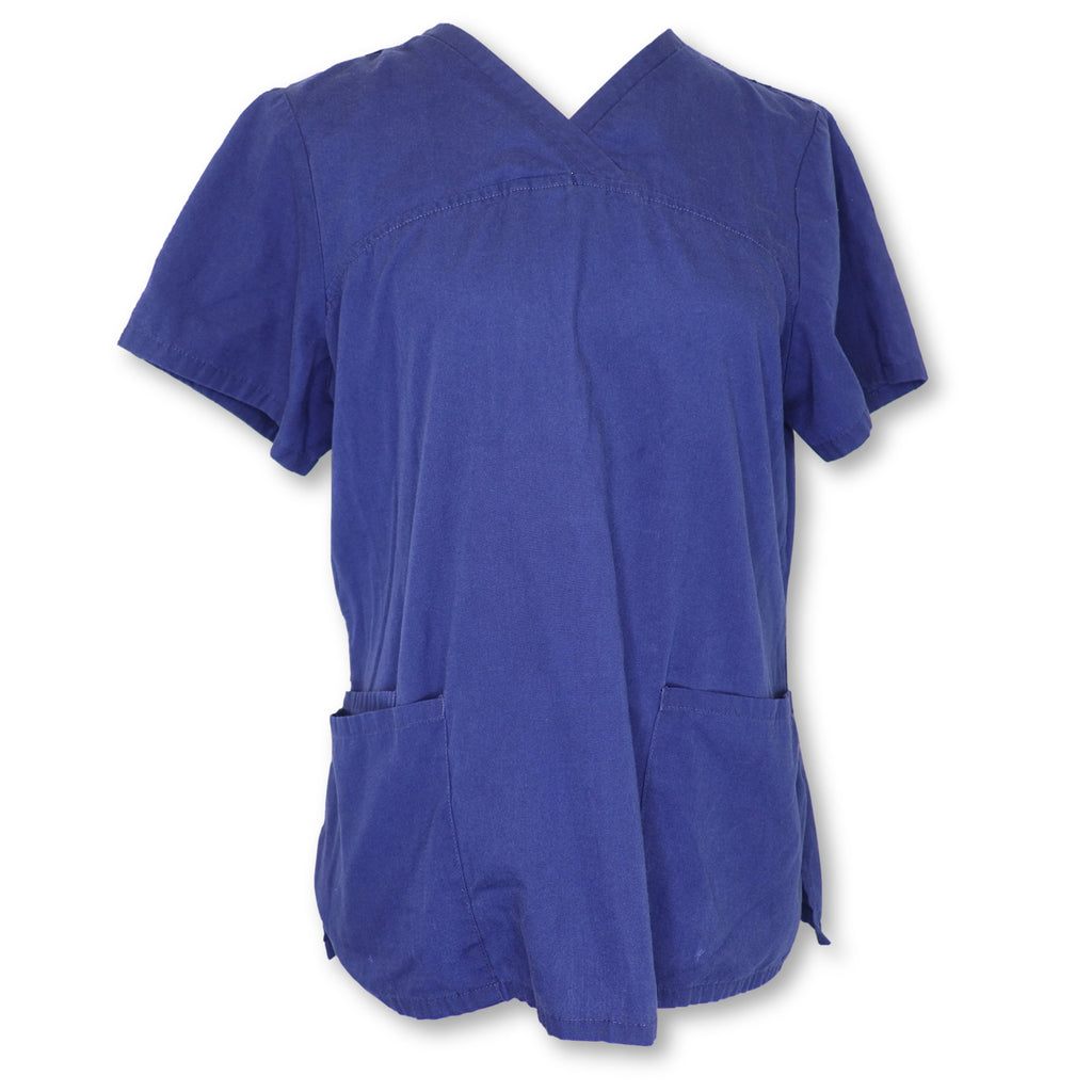 ScrubStar V-Neck Top (90007) >> Indigo, Medium