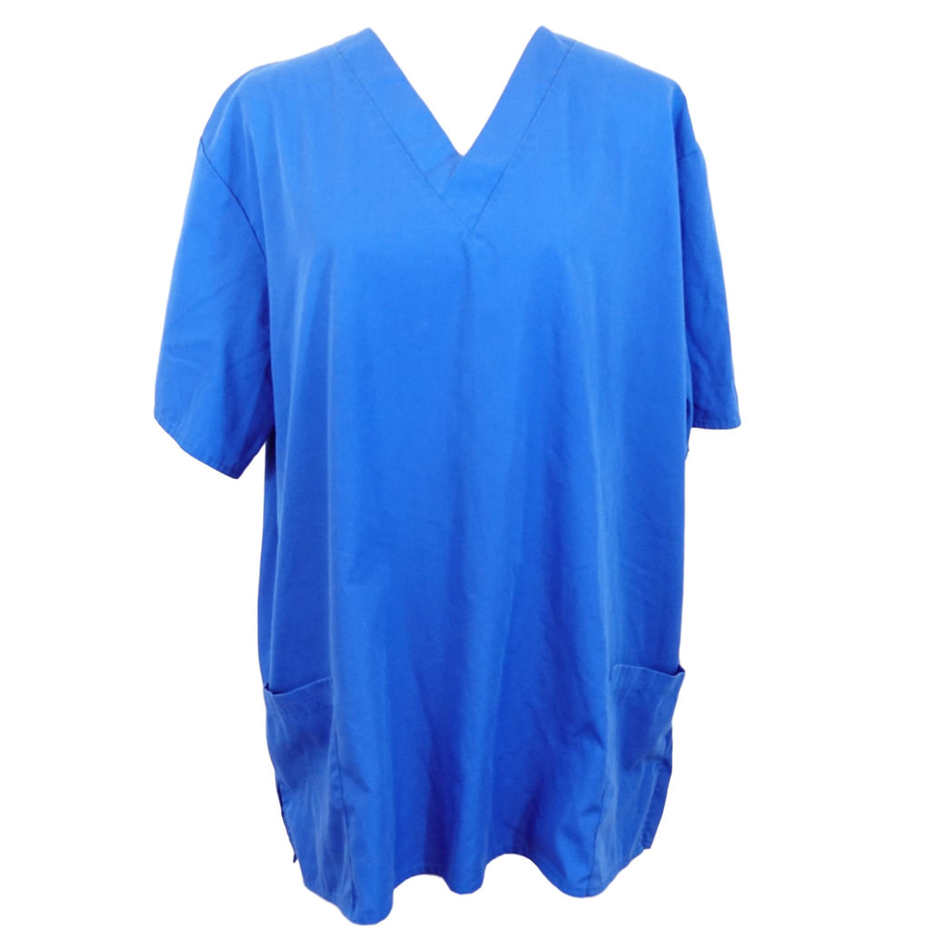 Natural Uniforms V-Neck Top >> Blue, Large