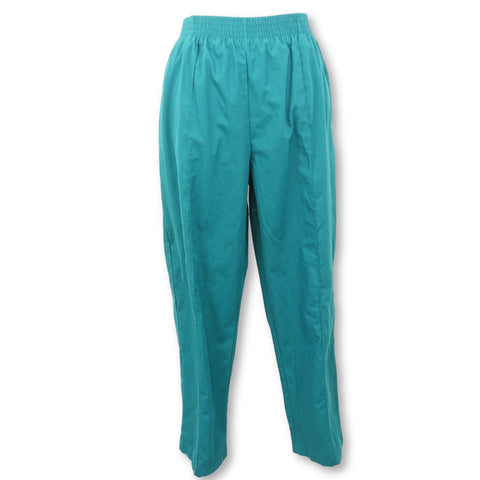 Landau Classic Fit Elastic Waist Scrub Pants (8320) >> Hunter Green, Large Petite