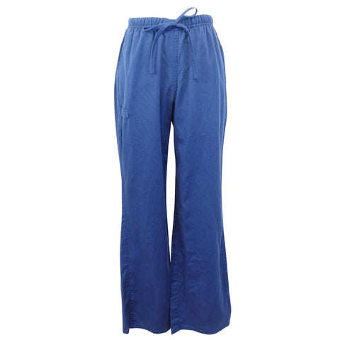 Cherokee WW Flex Moderate Flare Drawstring Pant (44101) >> Navy, X-Small