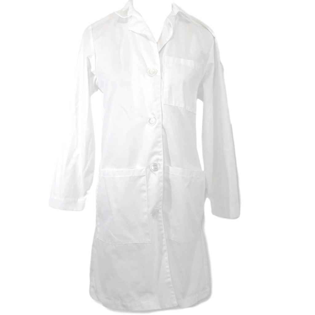 Landau Front Button Lab Coat (3155) >> White, X-Small