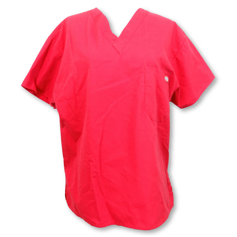 Dickies One Pocket Unisex V-Neck Top (10101) >> Red, X-Small