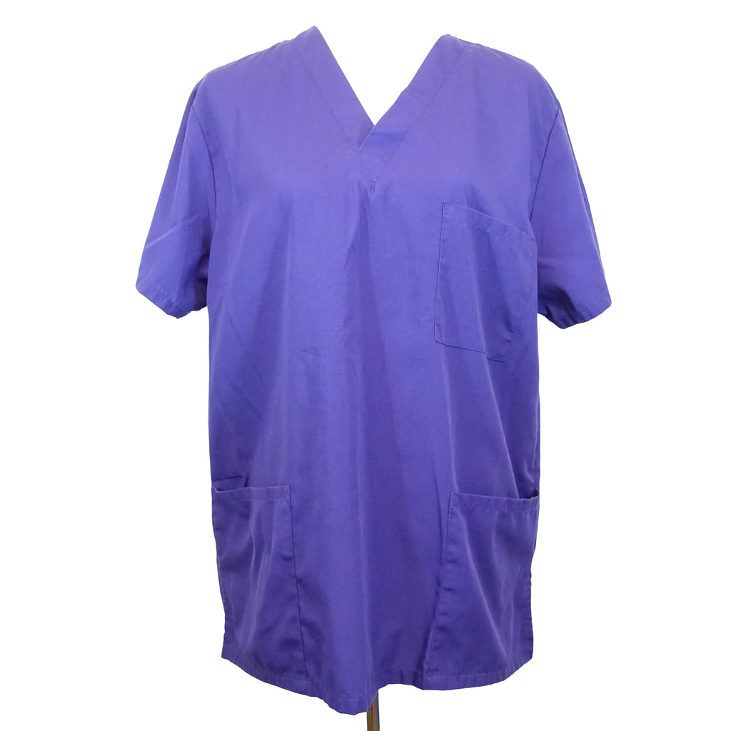 Cherokee Workwear Unisex V-Neck Scrub Top (4876) >> Grape, Medium