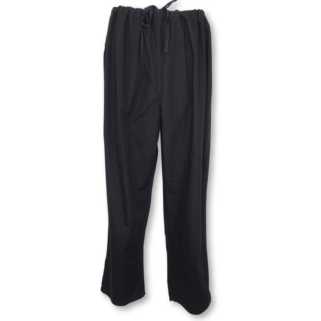 Wal-Mart Unisex Scrub Pants with Pockets >> Black, X-Large