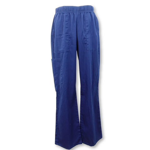 ScrubStar Pull-On Cargo Pant (7008) >> Indigo, Small
