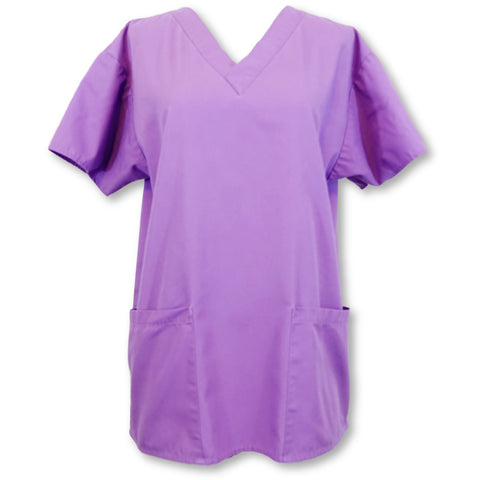 Dickies Scrubs Women's Classic V-Neck Top (810506) >> Purple, X-Small