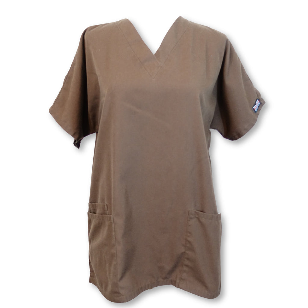 Cherokee Workwear Classic V-Neck (4700) >> Chocolate, X-Small