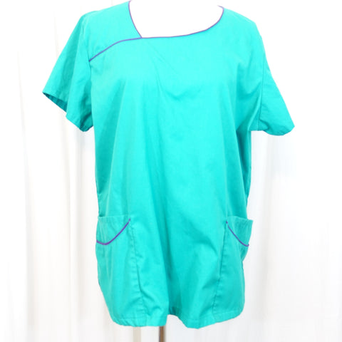 63beaebdb39 Butter-Soft Solid Print Top (658) >> Teal, X-Large