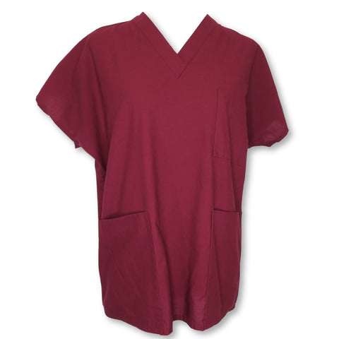 Tafford Unisex V-Neck Top >> Maroon, Small