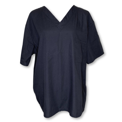 Wal-Mart Unisex Scrub Top with Pocket (13150) >> Black, Large