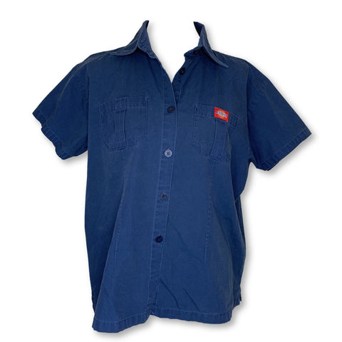 Dickies Collared Front Button Tunic >> Navy, X-Large