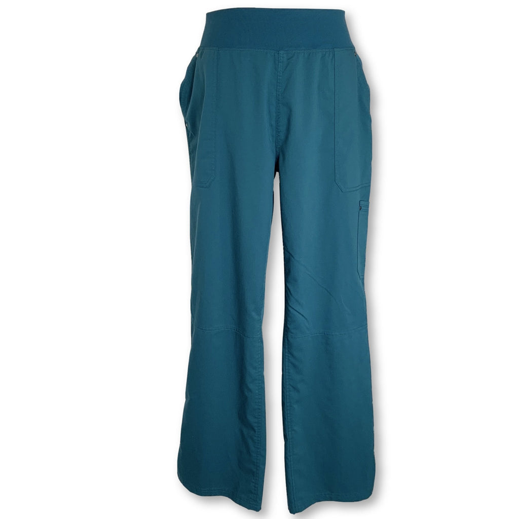 Healing Hands Purple Label Tori Yoga Pants (9133) >> Caribbean Blue, X-Large Petite