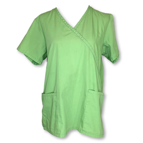 Natural Uniforms V-Neck Top (001) >> Lime Green, Medium