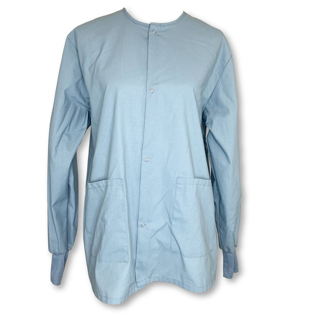 Medline Round Neck Unisex Front Button Coat (849) >> Misty, Small