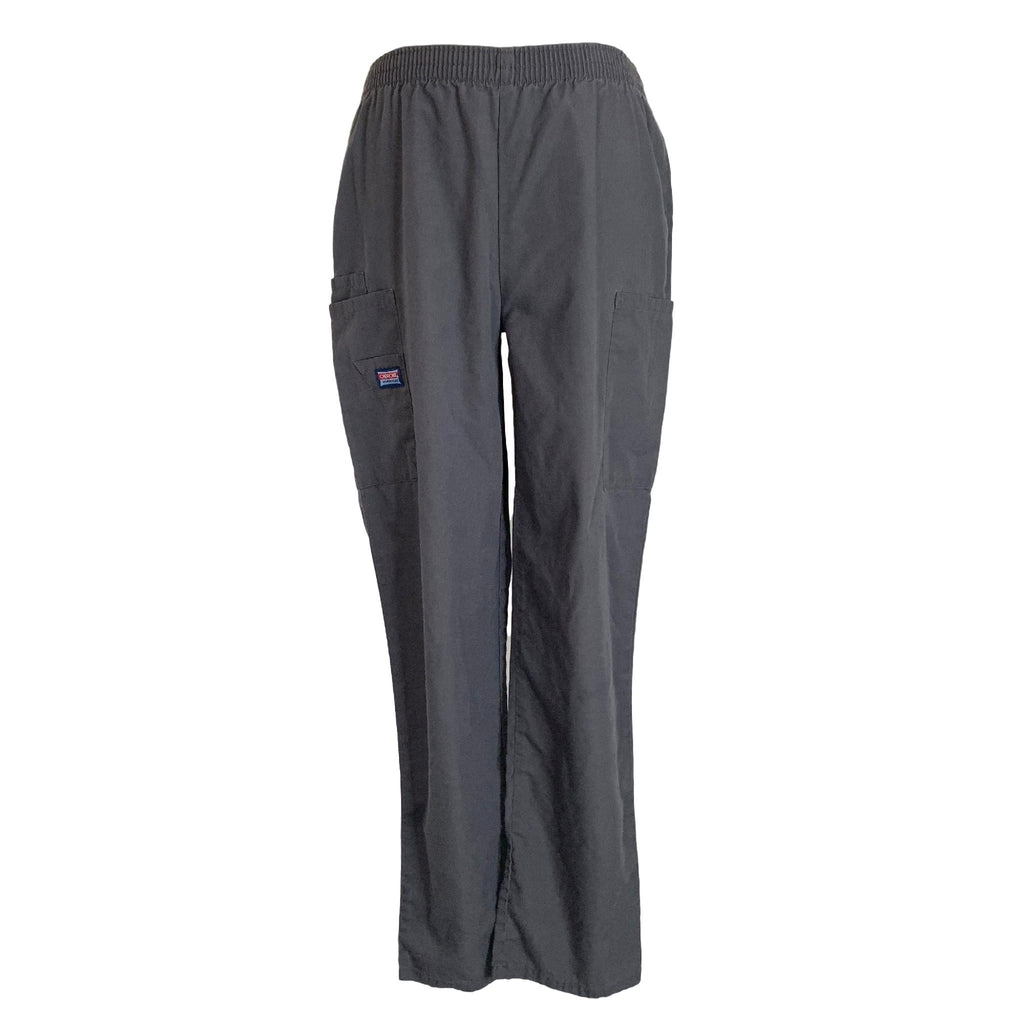 Cherokee Workwear Elastic Waist Utility Pant (4200) >> Pewter, X-Small Petite