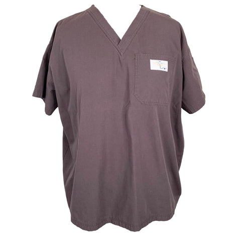 Aviator Scrubs Classic Top >> Brown, 3X-Large