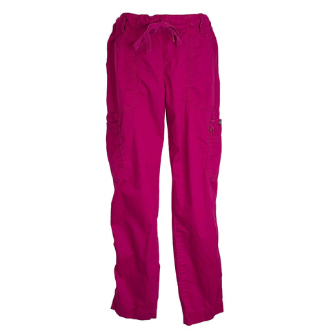Koi Stretch Lindsey Drawstring Elastic Waist Pant (710) >> Raspberry, Medium